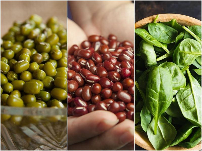 春末天氣多變,中醫師吳明珠說,暮春養生要祛濕,可吃紅豆,也可喝綠豆湯;抓緊春季養肝時機,多吃菠菜最好。(圖取自Pixabay圖庫)