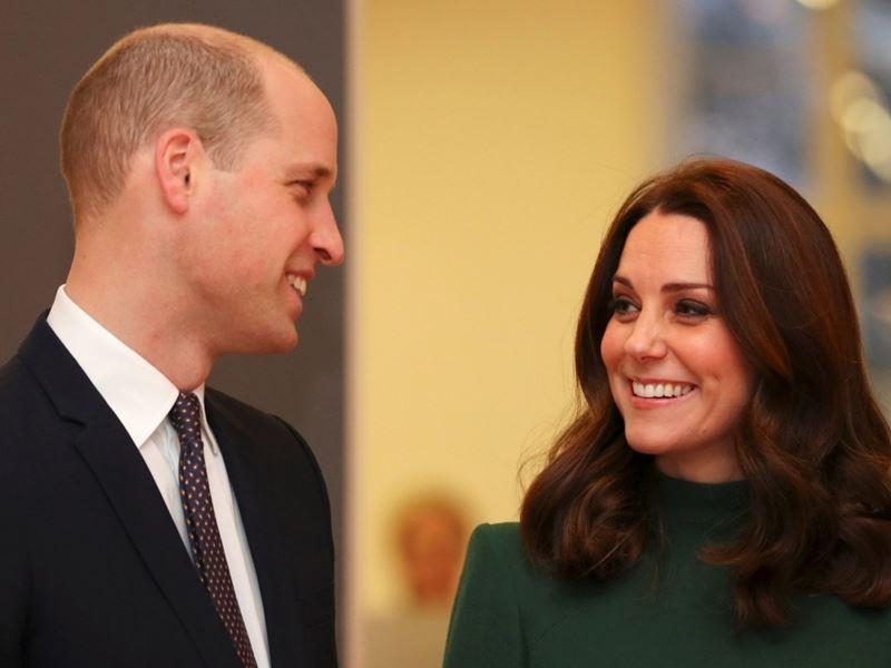 英國威廉王子(左)之妻凱特(右)23日產下第3胎是男孩。(圖取自英國王室網頁www.royal.uk)
