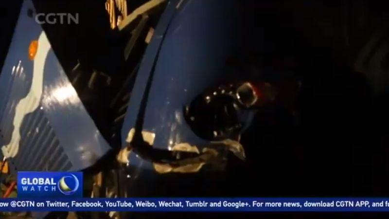 北韓22日晚間發生嚴重車禍,已造成36人死亡、2人重傷。(圖取自中國環球電視網推特twitter.com/cgtnofficial)