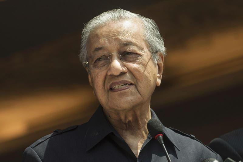曾長期擔任首相的馬哈地所領導4黨聯盟9日贏得大選。(檔案照片/共同社提供)