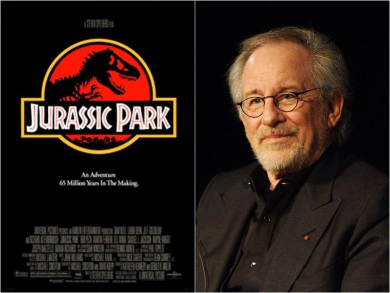導演史蒂芬史匹柏曾客串電影「侏儸紀公園」片中第一個恐龍叫聲。(圖取自維基共享資源,右圖CC BY 3.0,作者:Romain DUBOIS)