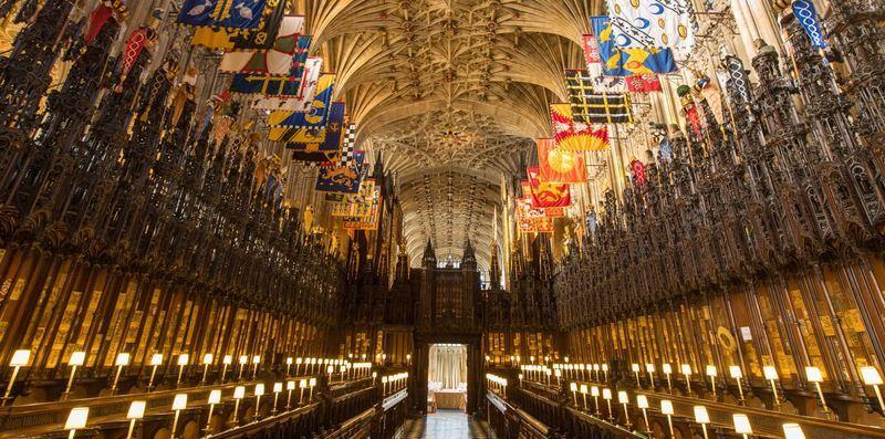 英國王室哈利王子與梅根馬克爾19日將在溫莎城堡的聖喬治禮拜堂互許終身。(圖取自英國王室官網 www.royal.uk)