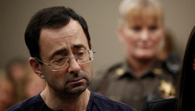 美國體操代表隊前隊醫納沙一月時,坦承他藉治療為由性侵女性,遭判無期徒刑。(檔案照片/路透社提供)