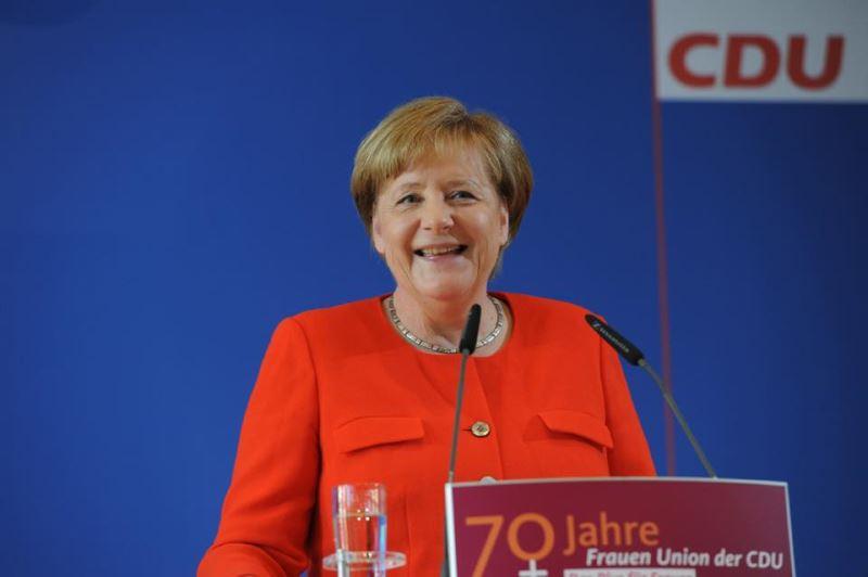 中國外交部發言人陸慷18日宣布,德國總理梅克爾(圖)應邀將於24至25日訪問中國。(圖取自梅克爾臉書www.facebook.com)
