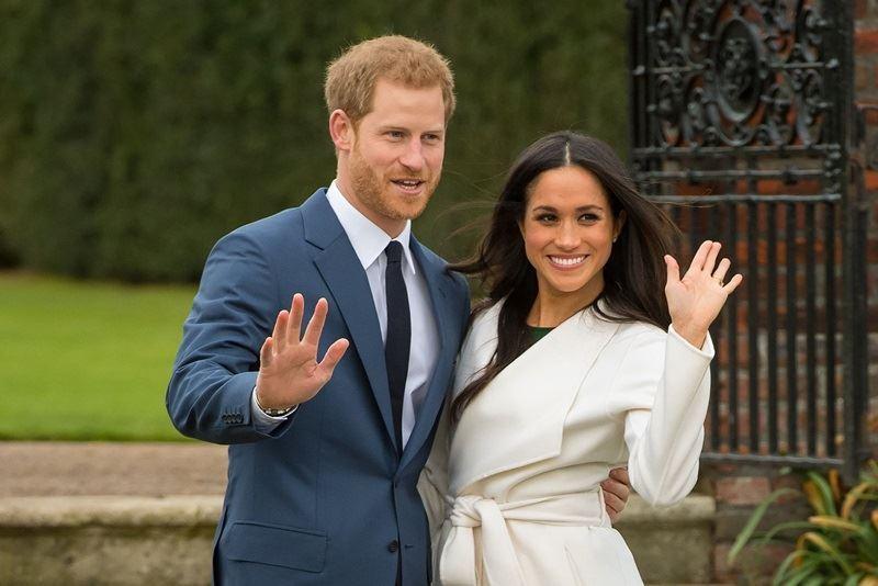 哈利王子(左)將於19日與梅根馬克爾(右)成婚。(圖取自The Royal Family臉書facebook.com)