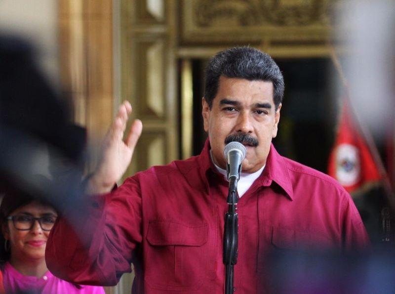 委內瑞拉總統馬杜洛20日贏得第2個6年任期,得以執政直到2025年。(圖取自馬杜洛推特twitter.com/nicolasmaduro)
