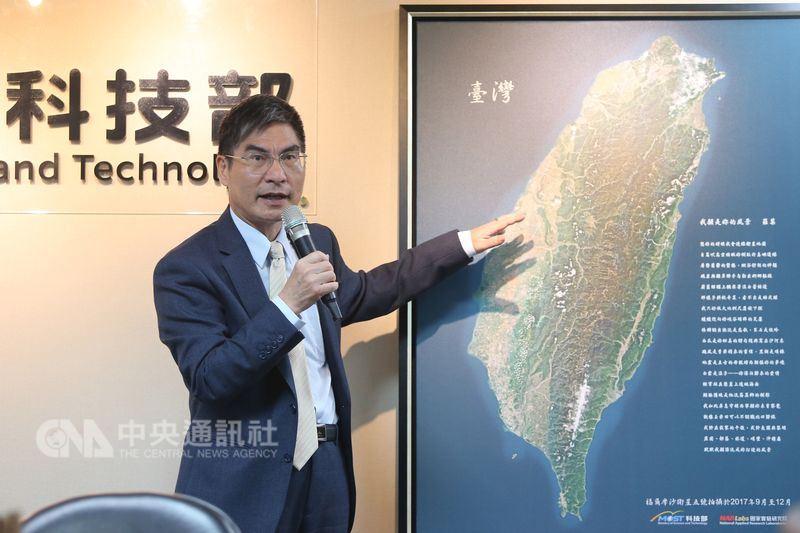 科技部把福五拍攝的台灣全島圖,搭配已故詩人羅葉作品「我願是你的風景」,引起民眾關注。(中央社檔案照片)