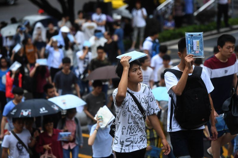 中國一年一度的高考(大學入學考試)近日登場。(中央社提供)