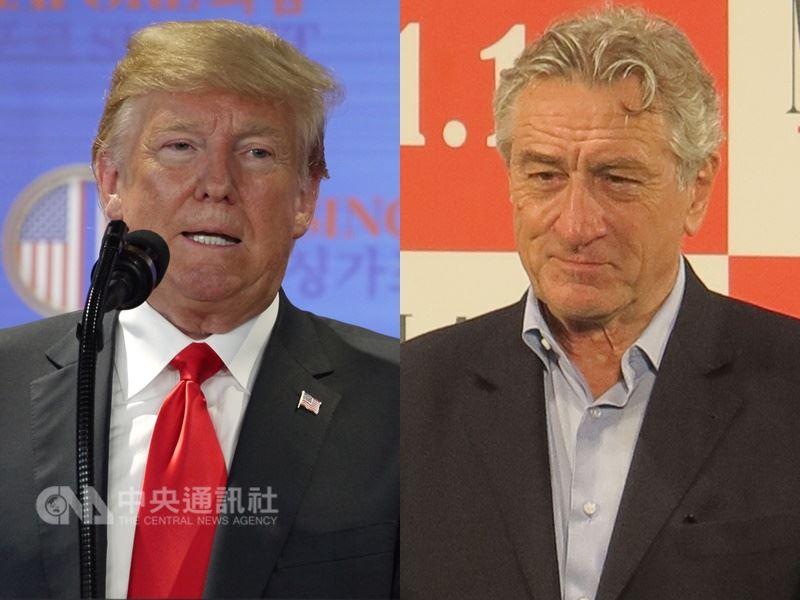 美國總統川普(左)發了一連串推文抨擊演員勞勃狄尼洛(右)。(中央社檔案照片)
