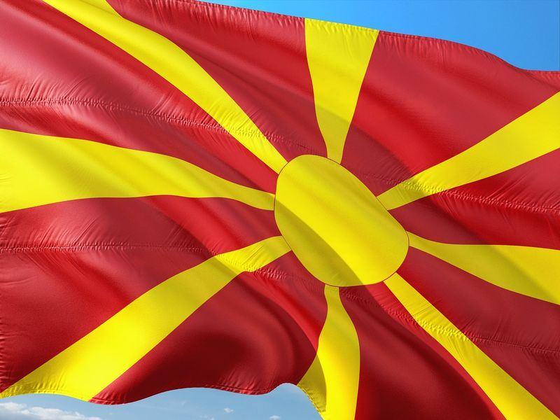 馬其頓與希臘12日化解一場持續近30年的糾紛,同意稱馬其頓為北馬其頓共和國。圖為馬其頓國旗。(圖取自Pixabay圖庫)