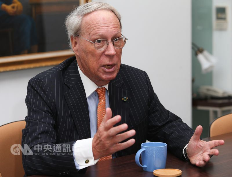 兩岸關係陷入僵局。前美國在台協會主席薄瑞光表示,美國國會與行政部門近來反映了對北京欺凌台灣的關切。中央社記者謝佳璋攝