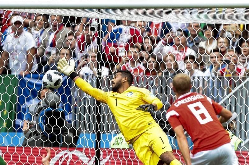 世界盃足球賽14日在莫斯科揭幕,地主國俄羅斯以5比0大勝沙烏地阿拉伯搶得世足賽首勝。(達志提供)