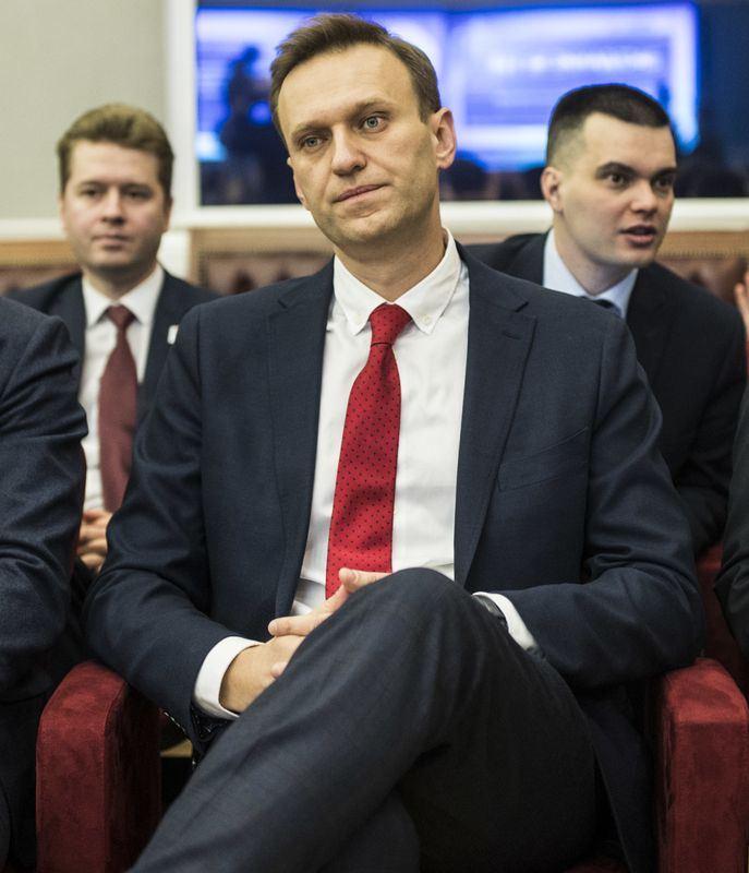俄羅斯14日在世足賽開幕戰大捷,但異議領袖納瓦尼(前)卻譴責俄國這次主辦世足花太多錢。(圖取自維基共享資源,作者Evgeny Feldman,CC BY-SA 4.0)
