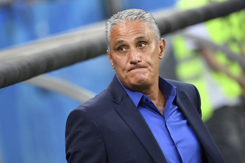 巴西17日在世界盃足球賽以1比1與瑞士踢成平手,巴西教頭泰特認為,巴西E組首戰敗在太緊張。(達志提供)