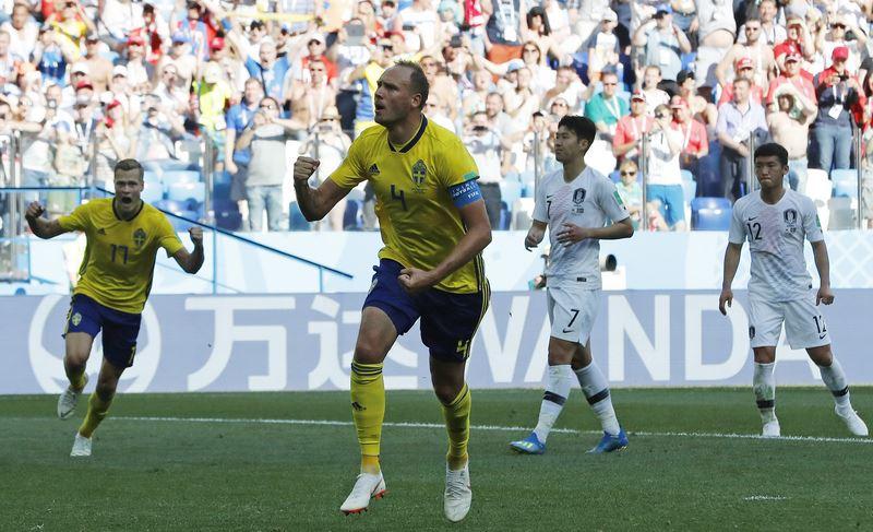 去年瑞典足球先生格蘭奎斯特(圖),18日在第65分鐘靠著12碼罰球破網,替瑞典攻進12年來首顆世界盃進球。(達志提供)
