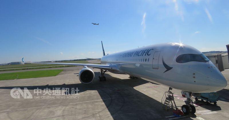 國泰航空19日在法國空中巴士總部接收第一架A350-1000飛機,這架新機7月1日下午將首航香港–台北。中央社記者汪淑芬攝 107年6月19日