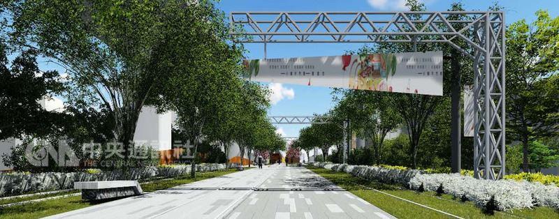 台中鐵路高架化第一階段已完成,市府規劃保留台鐵高架鐵道通車後台糖北側到刑務所的1.6公里舊鐵道,打造為綠色步行及自行車騎乘空間的「綠空鐵道」。(市府提供)中央社記者郝雪卿傳真 107年6月19日