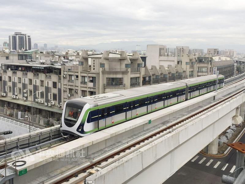 台中捷運綠線將於年底試運轉,目前密集進行各路線自動駕駛電聯車的測試,未來上路後將是台灣繼台北捷運文湖線後,第2條採用無人駕駛自動列車的捷運。(市府提供)中央社記者郝雪卿傳真 107年6月20日