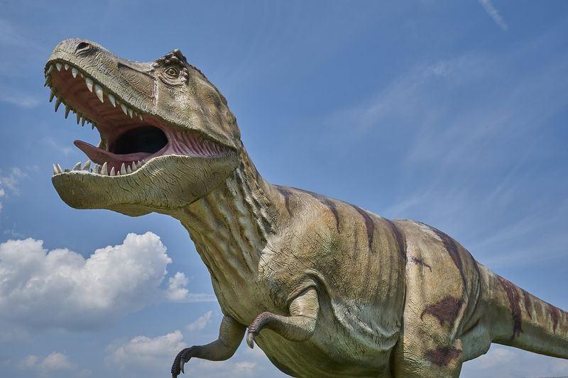 凶猛的肉食性動物雷克斯暴龍經常被描繪成伸出長長的舌頭襲擊對手。(圖取自pixabay圖庫)
