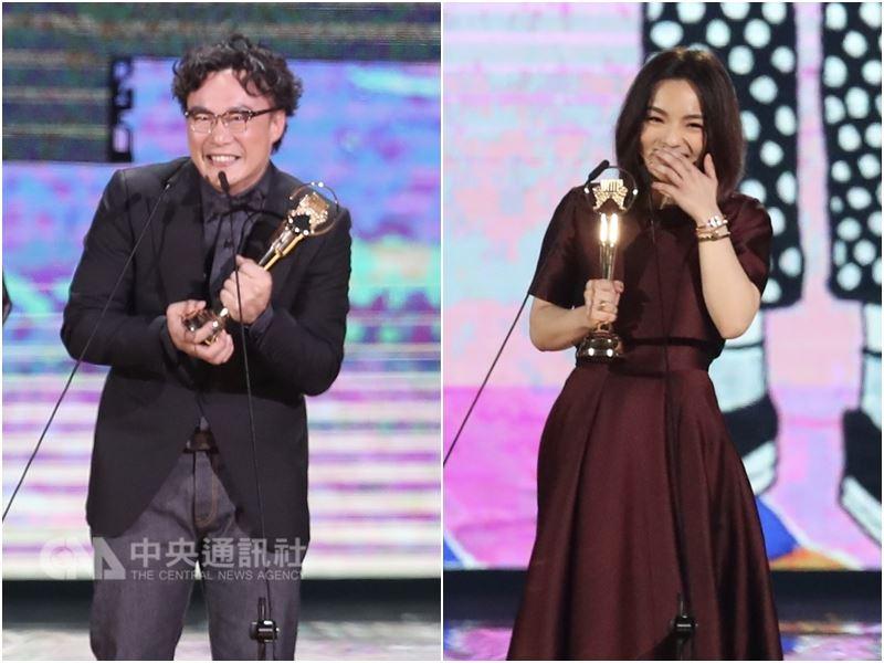 第29屆金曲獎歌王歌后分別為陳奕迅(左)和徐佳瑩。評審團主席陳子鴻說明兩人都是在首輪就勝出,總票數19票,陳奕迅以14票過半勝出,歌后徐佳瑩以11票拿下。中央社記者吳翊寧攝 107年6月23日