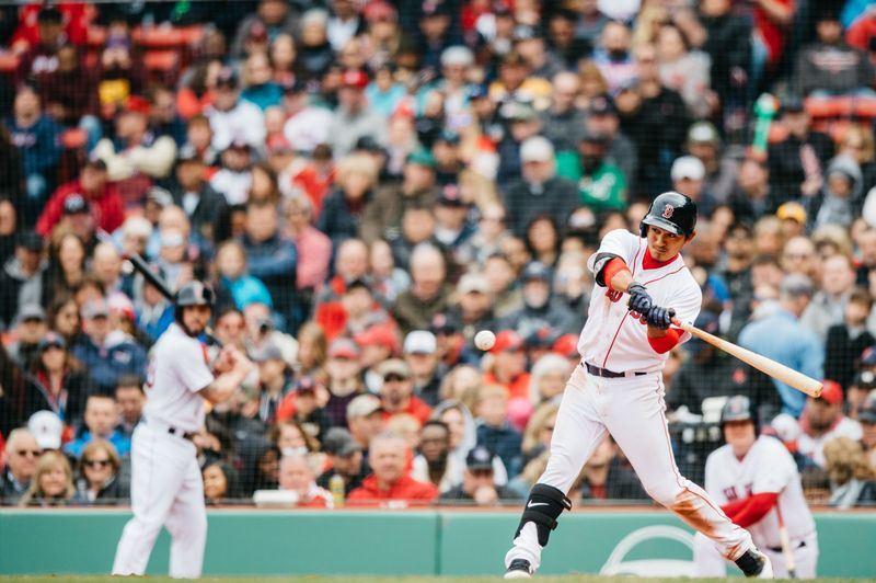 美國職棒MLB紅襪隊23日在主場面對水手隊前,將台灣野手林子偉從3A拉上大聯盟。(圖取自紅襪推特網頁twitter.com/redsox)