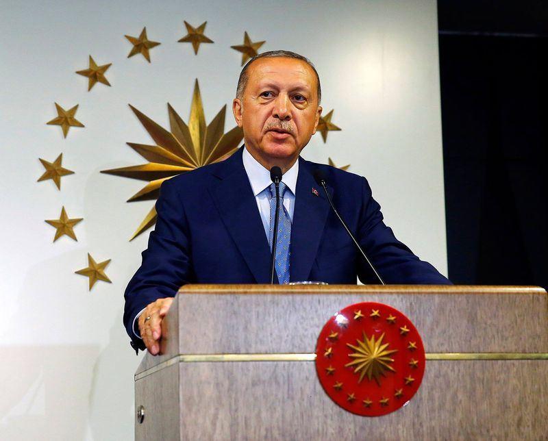 土耳其最高選舉委員會25日表示,現任總統艾爾段當選為下任總統。圖為艾爾段發表勝選聲明。(圖取自正義發展黨臉書facebook.com/akparti)