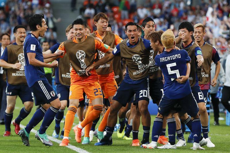 日本24日在世界盃足球賽H組小組賽上下半場各扳回一次劣勢,終場以2比2與塞內加爾握手言和。(達志提供)