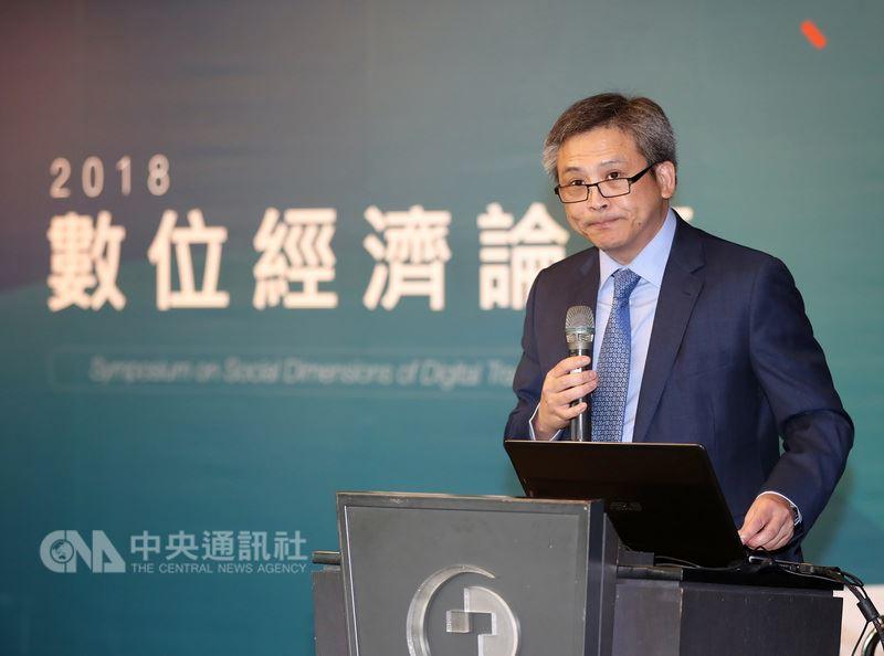 美國在台協會處長梅健華25日在台北出席2018數位經濟論壇表示,希望美國和台灣不只是數位時代的商業夥伴,更能一同為世界打造一個包容性的數位未來。中央社記者張皓安攝 107年6月25日