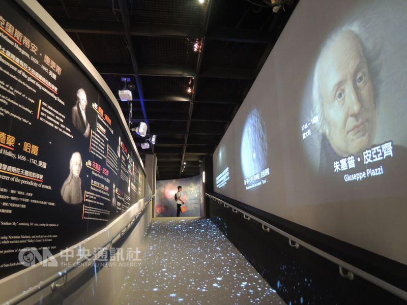 國立自然科學博物館「漫步太陽系」特展29日起展出至108年2月17日,美國NASA特別製作2段3分鐘的8K影片,以台達電的8K投影機完整呈現,成為特展一大亮點。中央社記者郝雪卿攝 107年6月29日