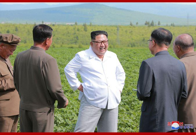 北韓中央通信社以不少於4篇的篇幅,報導金正恩前往毗鄰中國邊界的三池淵郡視察。(圖取自北韓中央通信社網頁kcna.kp)