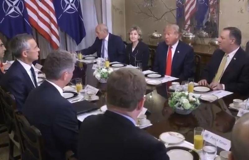 美國總統川普11日在北約峰會早餐會議激烈抨擊德國,指德國因「不當」天然氣交易合約淪為俄羅斯的俘虜。(圖取自川普推特twitter.com/realdonaldtrump)