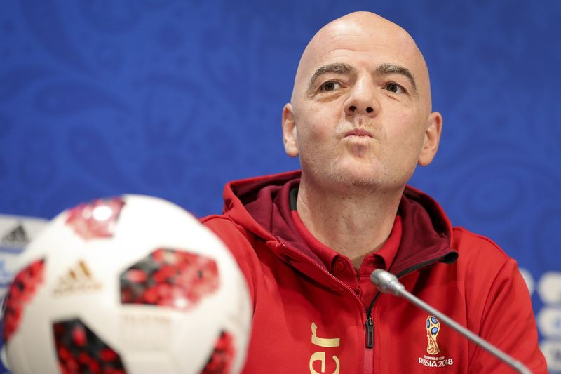 國際足球總會(FIFA)主席英凡提諾13日讚揚,本屆世界盃足球賽是有史以來的「最佳世足賽」。(達志提供)