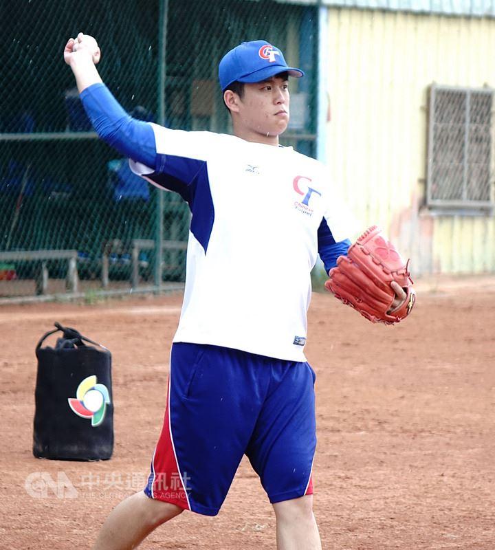 2018世界大學棒球錦標賽中華隊19歲投手蘇俊璋,在世大棒賽事中扛起終結者重任,表現不俗。蘇俊璋說,自己是來學經驗的,「上場就相信自己是最好的」。中央社記者謝靜雯攝 107年7月13日