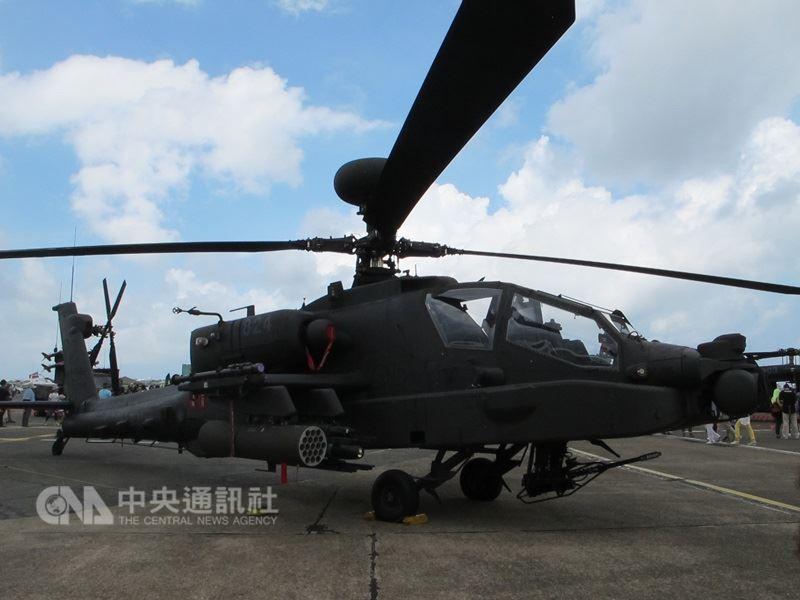 國軍向美國採購的阿帕契攻擊直升機(圖),17日將舉辦機隊成軍典禮。(中央社檔案照片)