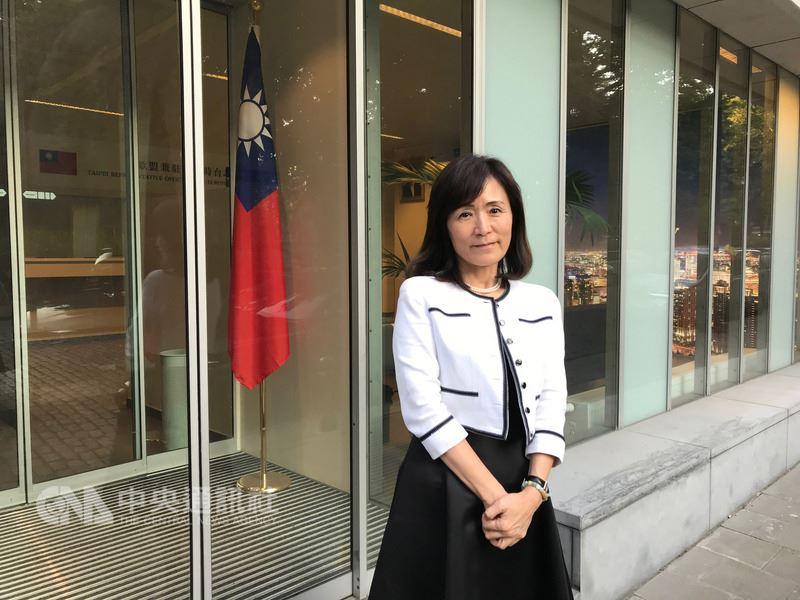 國立成功大學校長蘇慧貞12日參與「台灣比利時高等教育論壇」,呼籲台灣應思考認真看待優質人才的全球競爭。中央社記者唐佩君布魯塞爾攝 107年7月13日
