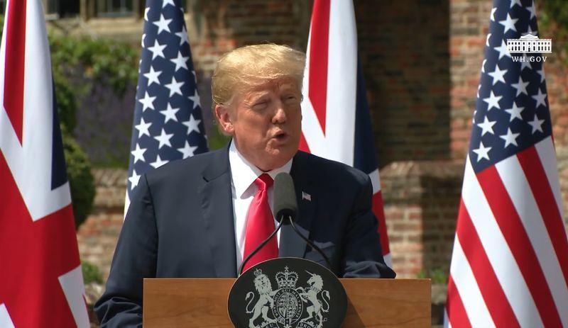 美國總統川普13日表示,面對俄羅斯,他始終「比任何人都強硬」。(圖取自白宮YouTube網頁www.youtube.com)