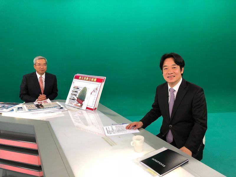 行政院長賴清德15日表示,台灣從過去到現在,還沒有一天所發的電是不夠用的。(圖取自謝金河-數字台灣臉書 www.facebook.com)