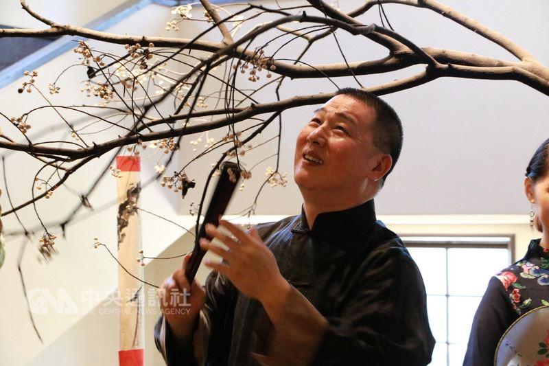 國光劇團「定風波」由當家老生唐文華(圖)飾演蘇東坡。中央社實習記者許祐誠台北攝 107年7月17日