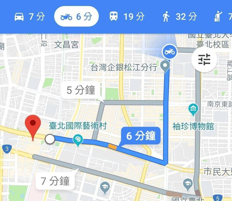 Google18日宣布正式在台灣推出Google地圖機車模式,提供全台超過1400萬名機車騎士專屬的路線規劃與行程時間預估。(中央社)