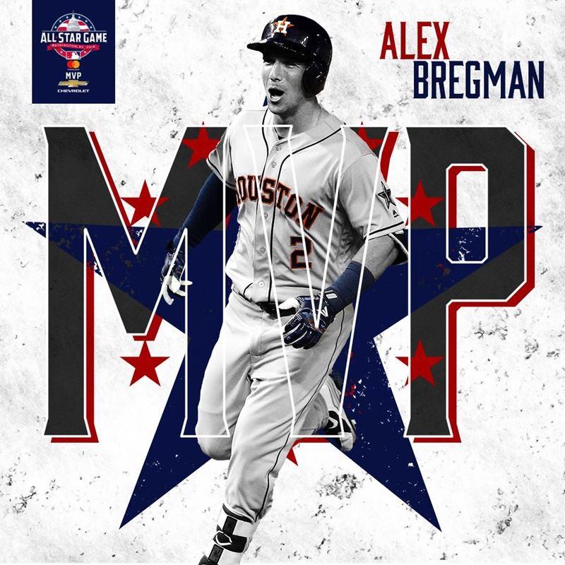休士頓太空人隊的布里格曼明星賽後,獲選明星賽最有價值球員。(圖取自MLB臉書www.facebook.com)