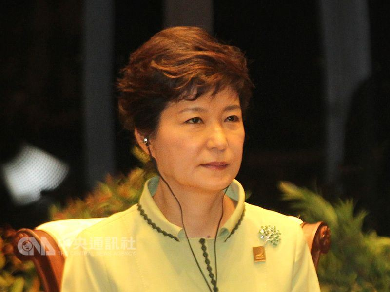 南韓法院20日一審判決,前總統朴槿惠因受賄及違反選舉法處8年有期徒刑。(中央社檔案照片)