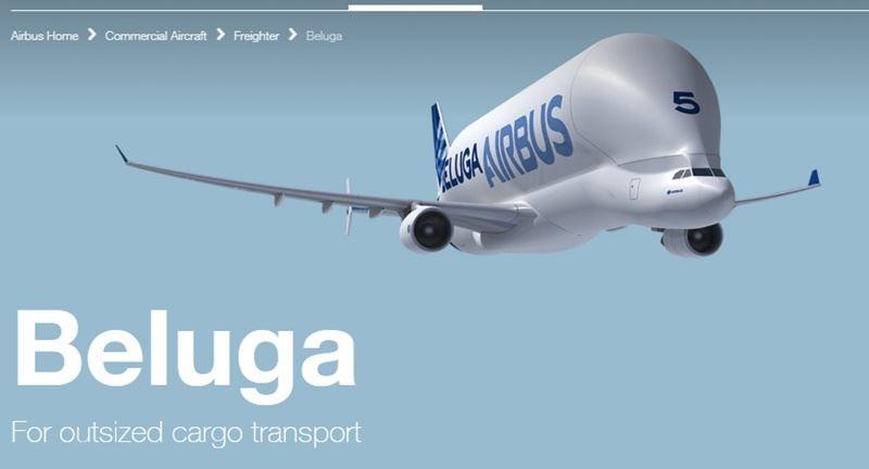 空中巴士公司新款大型貨機「超級大白鯨」19日進行試飛。(圖取自空中巴士網頁www.airbus.com)