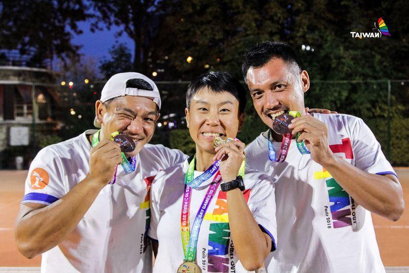 第10屆同志運動會在巴黎舉行,台灣首度組隊參加,總成績10金5銀3銅。(圖取自台灣同運會臉書 www.facebook.com/TGSGDMA)