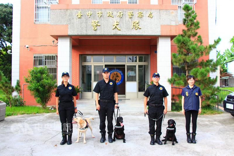 台中花博11月登場,台中市政府警察局成立的警犬隊也加強備戰訓練,花博假日期間警力勢必大量投入在交通與園區治安上,但城市治安工作不能馬虎,警犬能以各項優勢,彌補警力調度上的不足。中央社記者蘇木春攝 107年8月18日