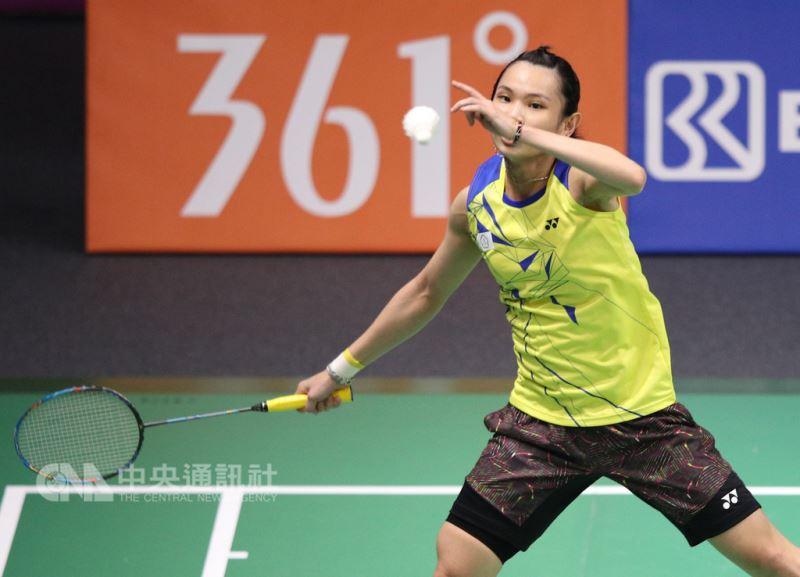 2018雅加達—巨港亞運羽球女子團體賽,中華隊20日出戰強敵泰國隊,可惜女單王牌、世界球后戴資穎首點沒能拿下。中央社記者張新偉雅加達攝  107年8月20日