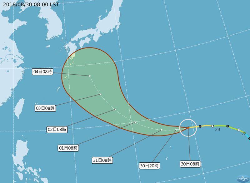 今年第21號颱風燕子28日生成,今年7、8月份共有14個颱風。(圖取自中央氣象局網頁www.cwb.gov.tw)