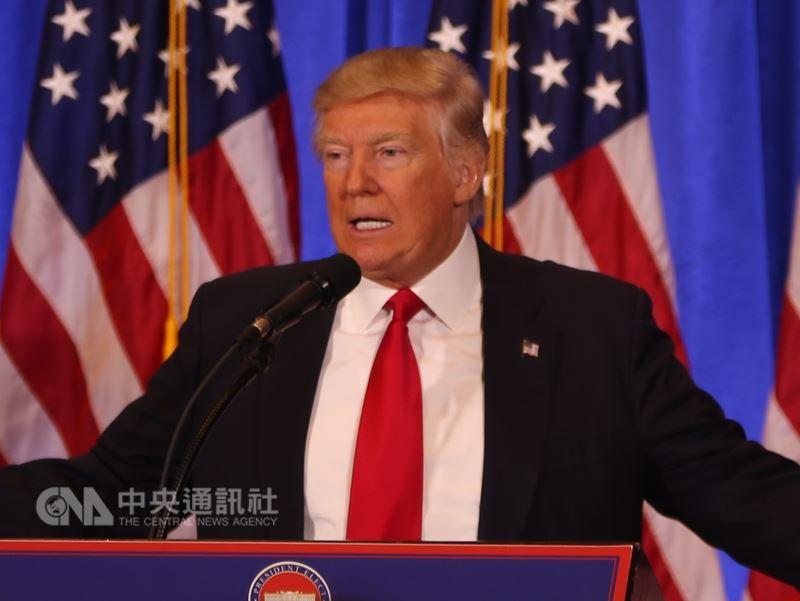 總統川普已簽署公告,允許部分國家輸美鋼鋁配額內免關稅。(中央社檔案照片)