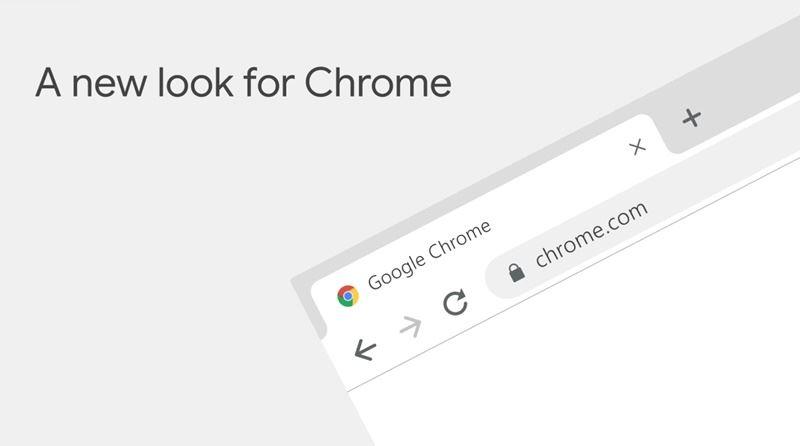 新版Chrome瀏覽器介面採用較多圓角圖形,同時加入全新圖示和調色盤,適用於所有平台。(圖取自Google台灣官方部落格taiwan.googleblog.com)