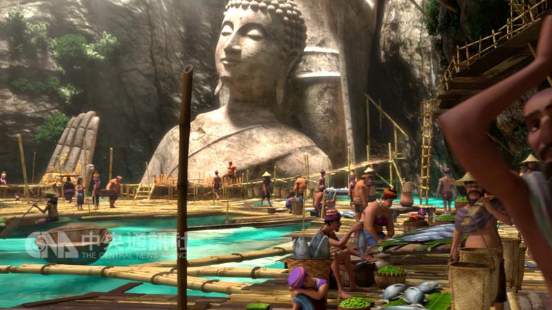 泰國動畫電影「暹羅訣:九神戰甲」展現傳統泰拳文化之美,片中許多令人讚嘆的美景也是在泰國實地取材,讓觀眾一睹泰國秘境風光。(双喜電影提供)中央社記者江佩凌傳真 107年9月6日