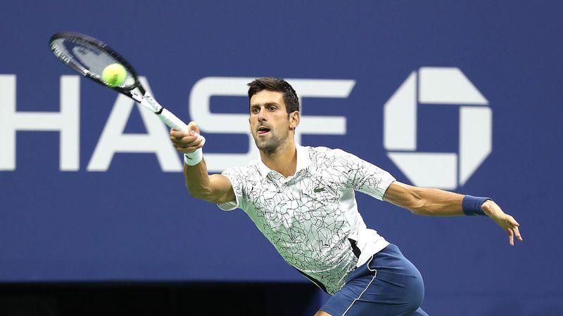 喬科維奇(圖)7日在美國網球公開賽4強賽,以直落三擊敗錦織圭,挺進男單決賽。(圖取自美網官網 www.usopen.org)